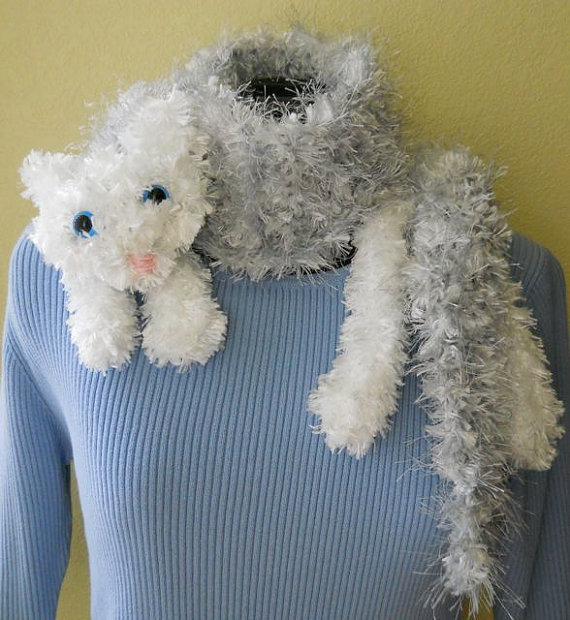 Snuggle Cat Scarf Digital Knitting Pattern | Cat scarf, Knit ...
