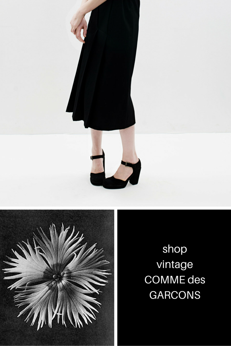 Vintage COMME des GARCONS wool wrap skirt. Click the link in our bio to shop.