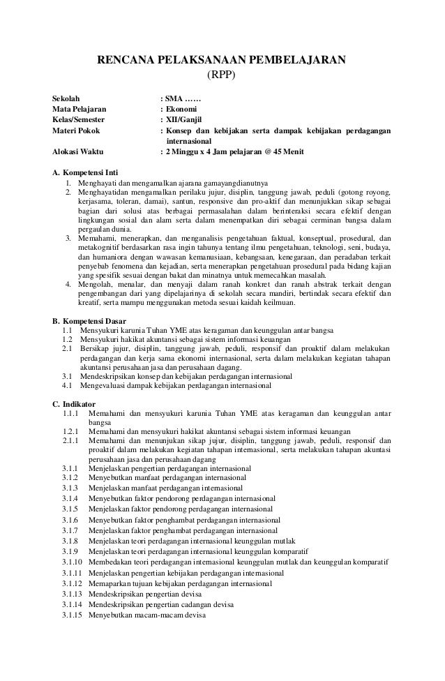 Rpp Qurdis Kelas Xi Semester 2