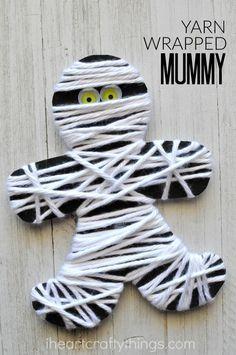 Photo of Yarn Wrapped Mummy Craft