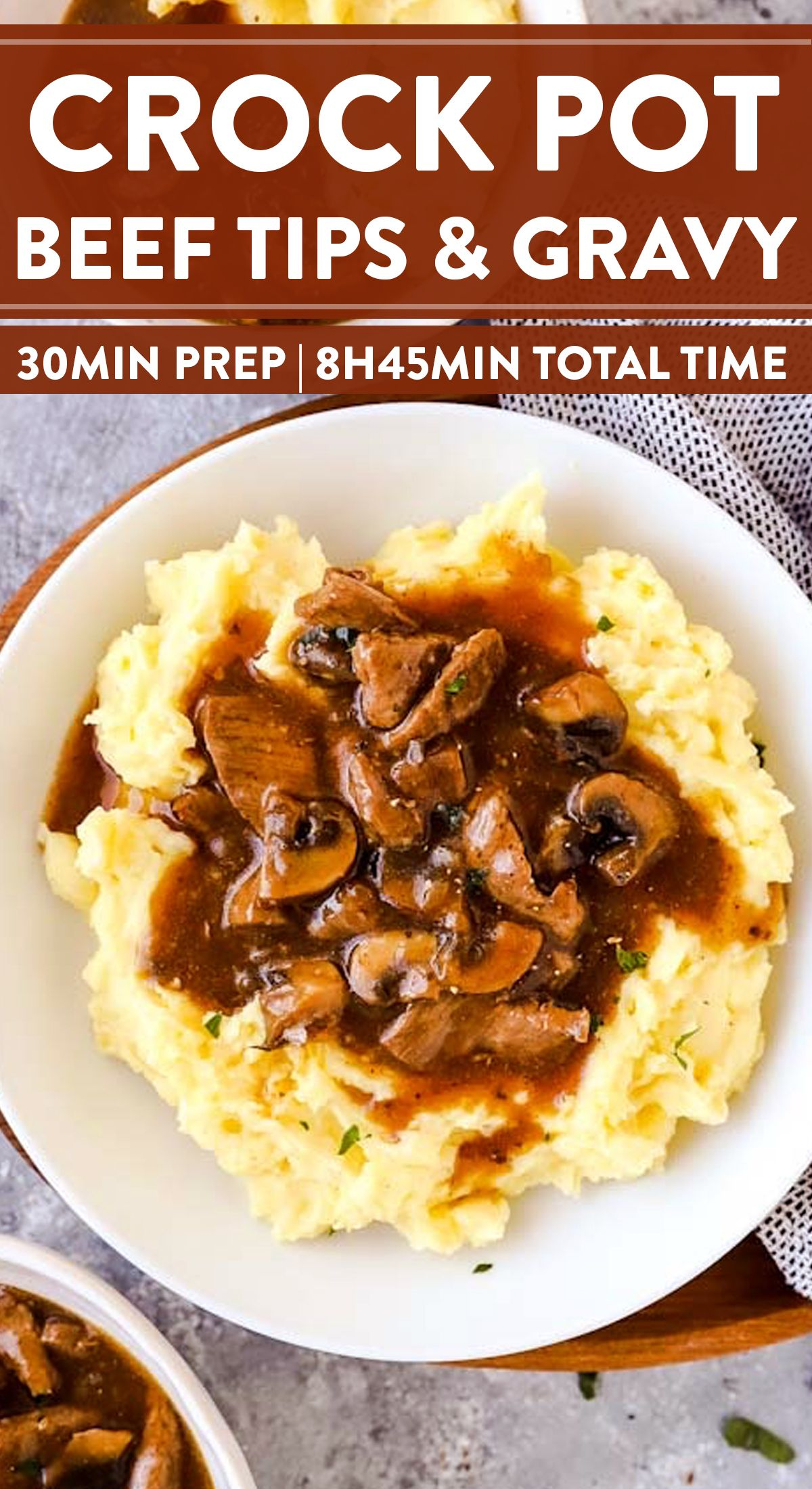 Crockpot Beef Tips and Gravy #weeknightdinners