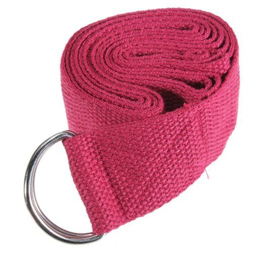 6FT Yoga Stretch Strap D Ring Belt Fitness Training Strap Belt