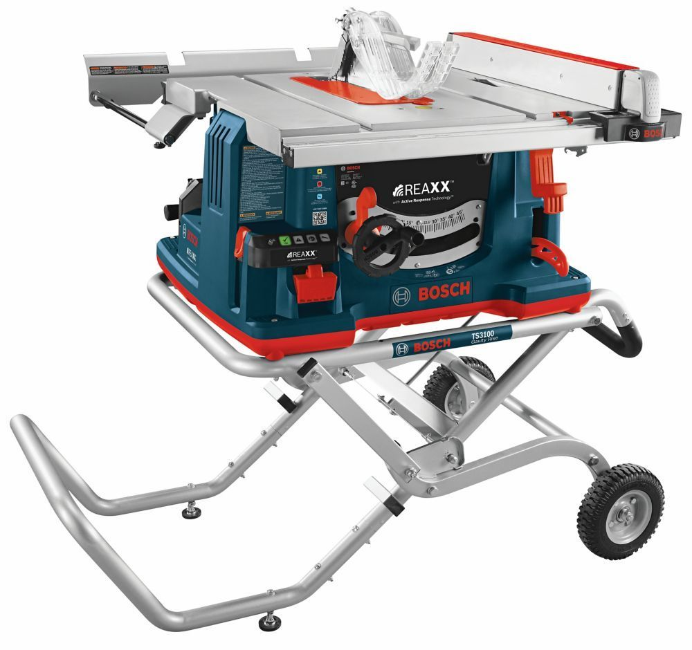 REAXX 10inch Jobsite Table Saw with GravityRise Wheeled Stand  REAXX 10inch Jobsite Table Saw with GravityRise Wheeled Stand