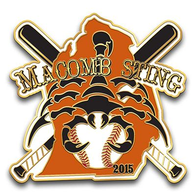 Macomb Sting Baseball Little League By Pinprosplus Com Custom Lapel Pins Little League Lapel Pins
