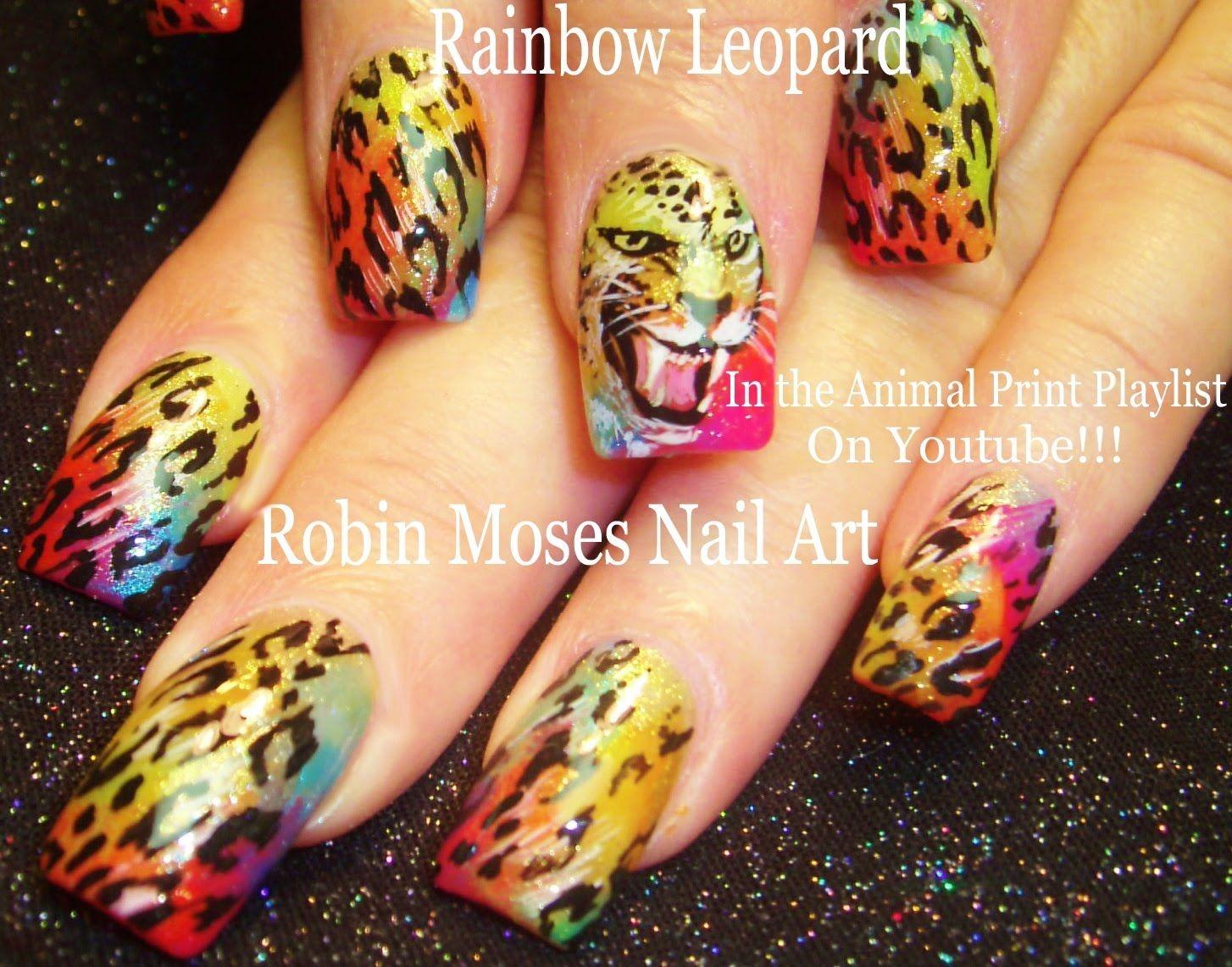 Nail Art Tutorial | DIY Leopard design Nails | Rainbow