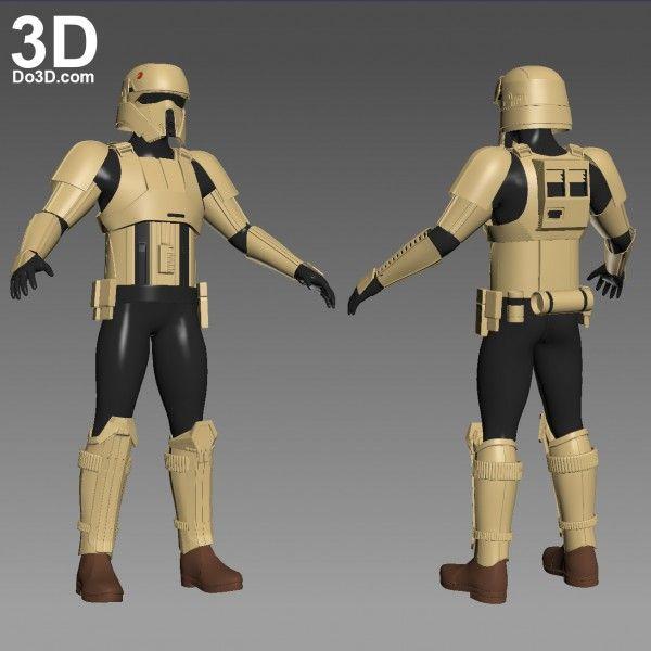 3D Printable Model Shoretrooper Scarif Stormtrooper Star