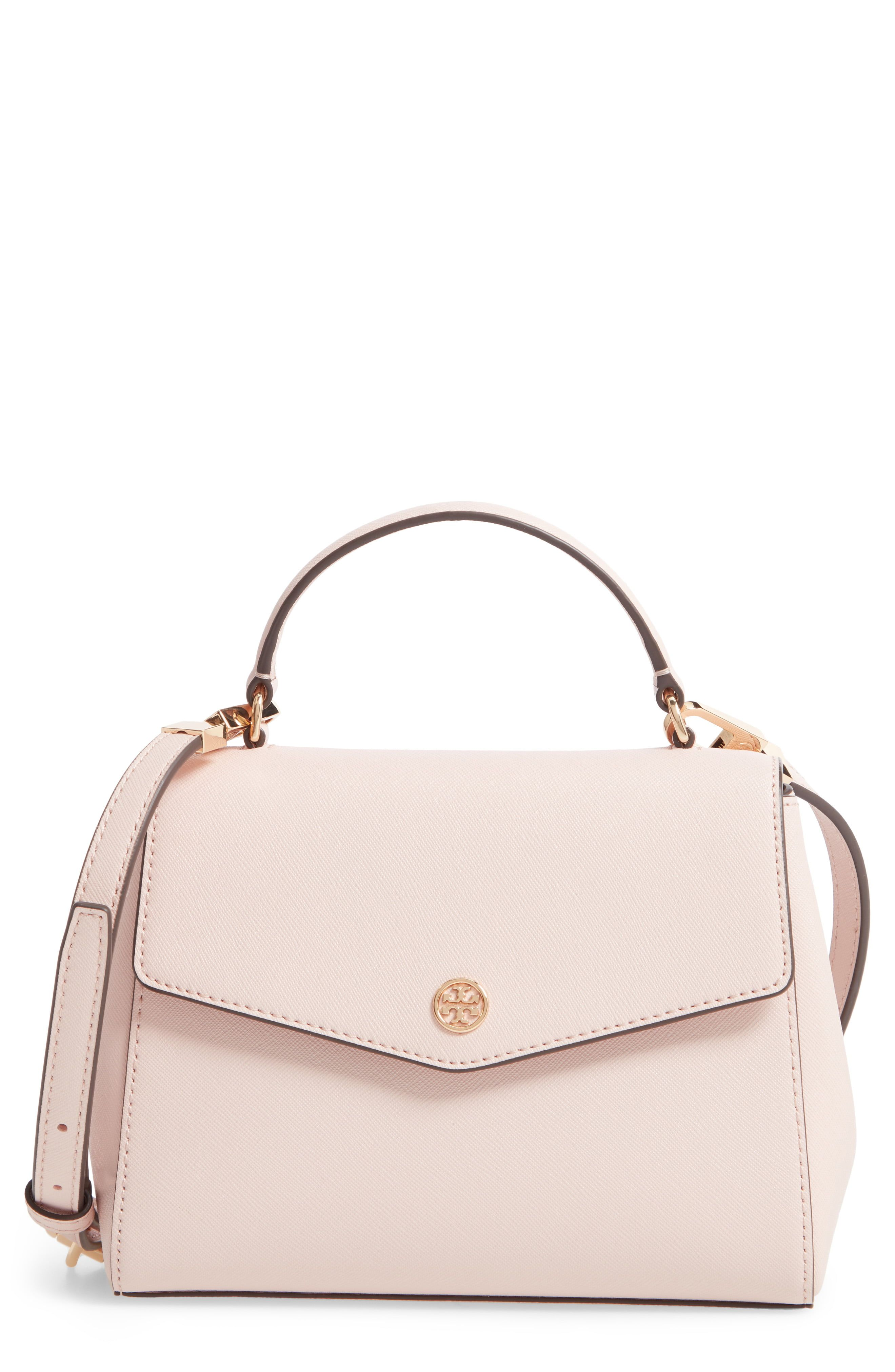 40d4a7fd Tory Burch Small Robinson Saffiano Leather Top Handle ...
