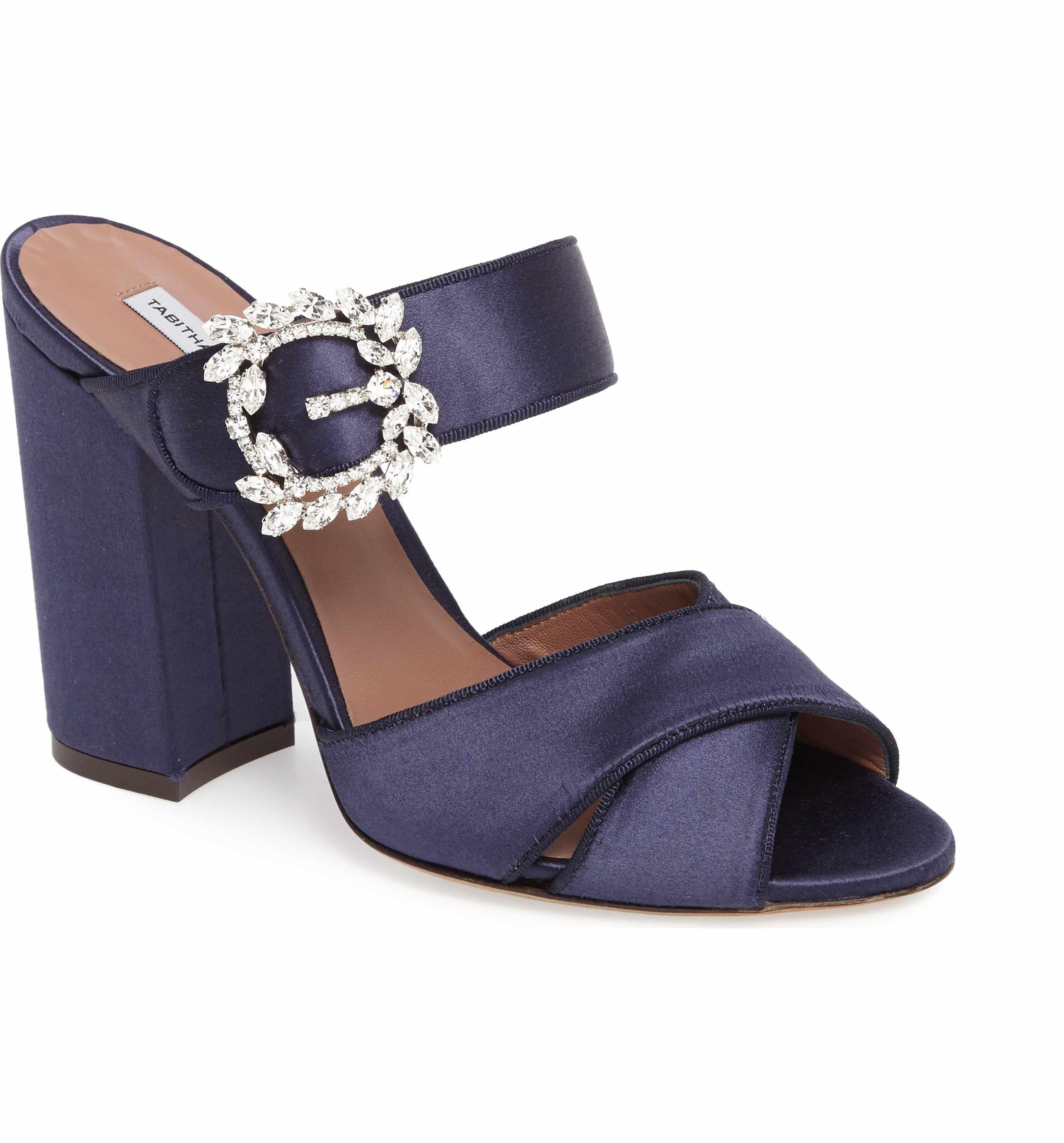 Reyner satin block heel sandals Tabitha Simmons HSFtfrkgkt