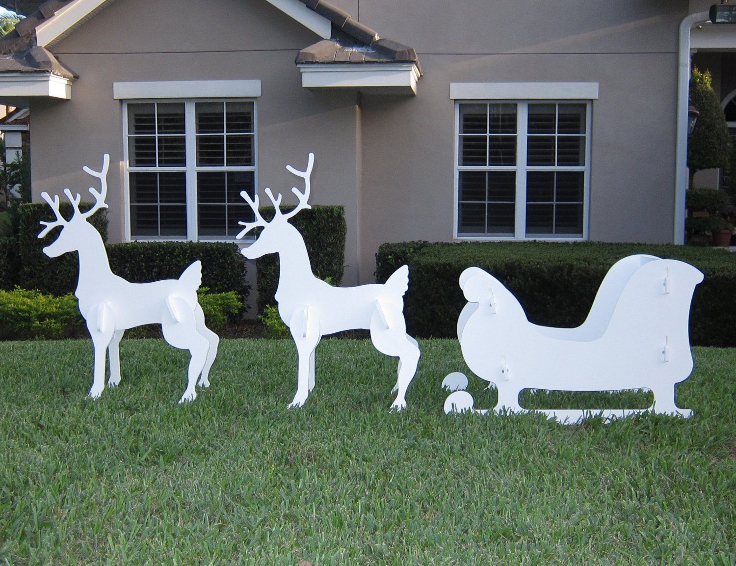 pin rusty campbell on reindeer outdoor christmas decorations jpg 1500x1153 white wood reindeer lawn decorations - Outdoor Wooden Reindeer Christmas Decorations
