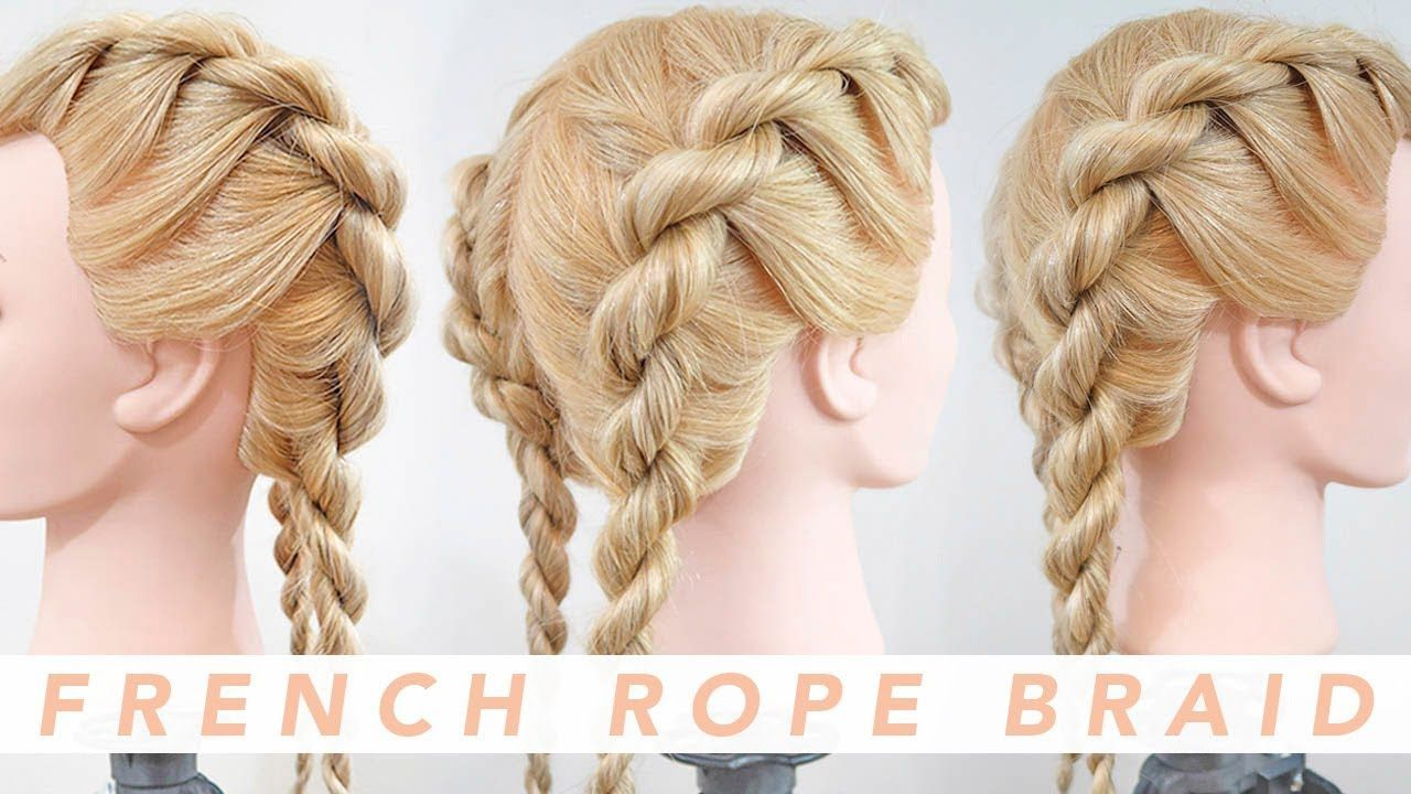 French Rope Braid Step By Step Everydayhairinspiration Rope Braided Hairstyle Loose French Braids French Braid Hairstyles
