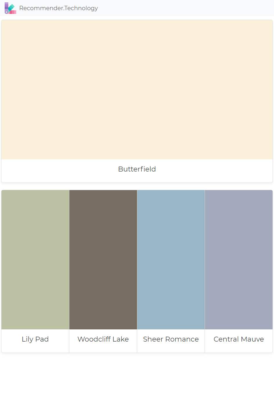 Butterfield: Lily Pad, Woodcliff Lake, Sheer Romance, Central Mauve ...