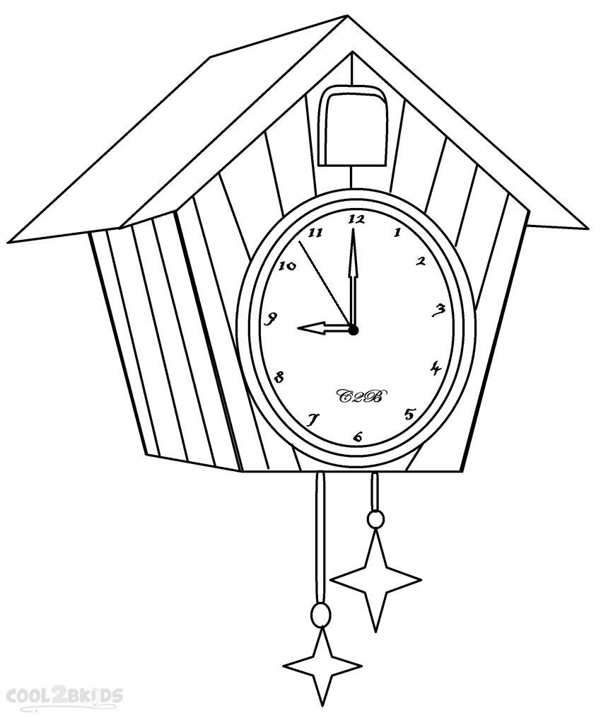 However Unusual It May Sound Clocks Are One Of The Most Popular Subjects For Kids Coloring Pages Alarm Grandfather Cuckoo And Other