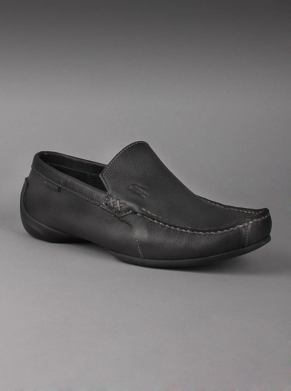 414beff14bc8 Lacoste® Men s Leather Shoes Argon Lexi 2 Loafers in Black Leave it to  Lacoste! Men s driving shoes have been reinvented with textured leather and  a comfy ...