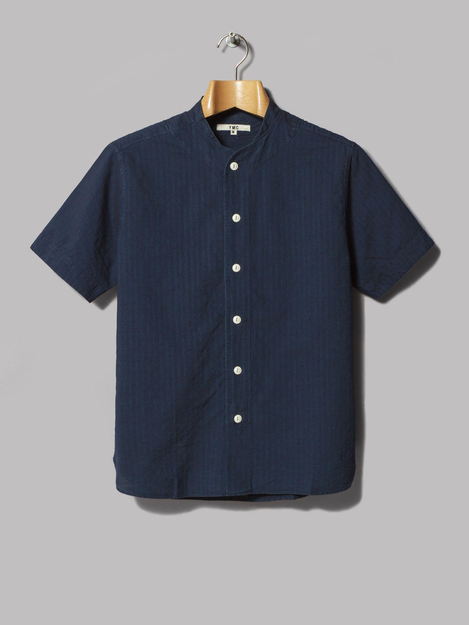Y.M.C. Stitch Stripe Baseball Shirt (Indigo)