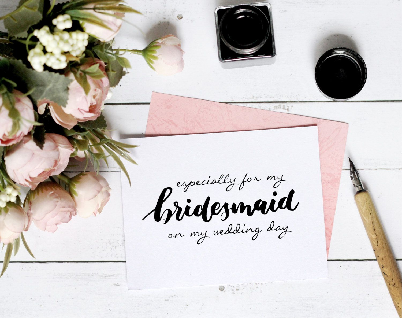 Printable bridesmaid card wedding card wedding template