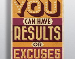 Poster Results or Excuses