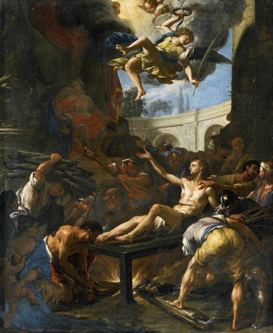 http://www.wga.hu/art/t/trevisan/lawrence.jpg Martirio de San Lorenzo, Trevisani, I. de San Felipe Neri, Turin, 1715