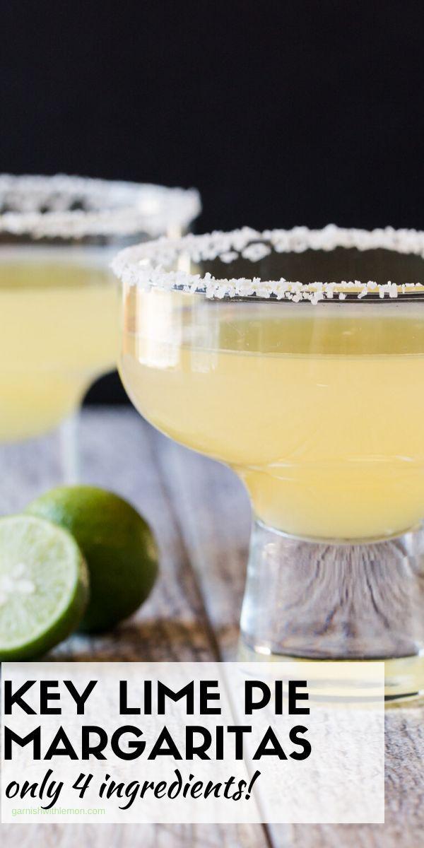 Key Lime Margaritas - Garnish with Lemon