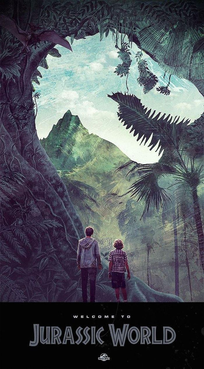 Poster design with photo - Jurassic World By Janee Meadows Home Of The Alternative Movie Poster Amp