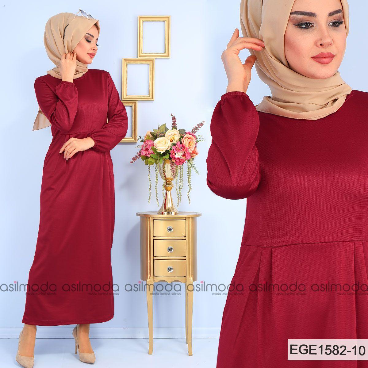 cde057aeea972 Elbise pileli olmakla birlikte boydan modeldir. İki adet gizli cep detayına  sahip olan elbise bisiklet