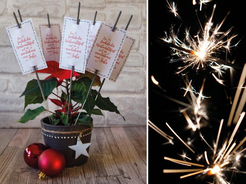 Kerzen & Beleuchtung - Wunderkerzen Label | Weihnachten | PDF Printable - ein Designerstück von Creative-Material bei DaWanda