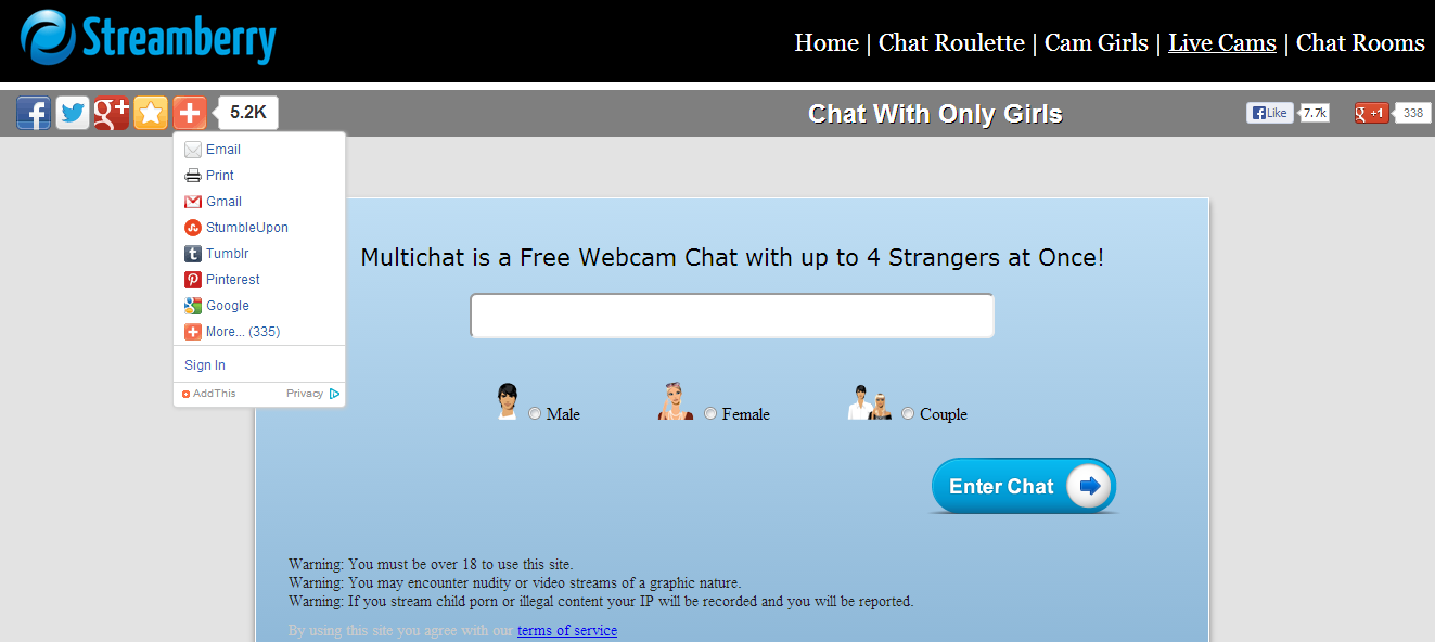 Random cam chat room