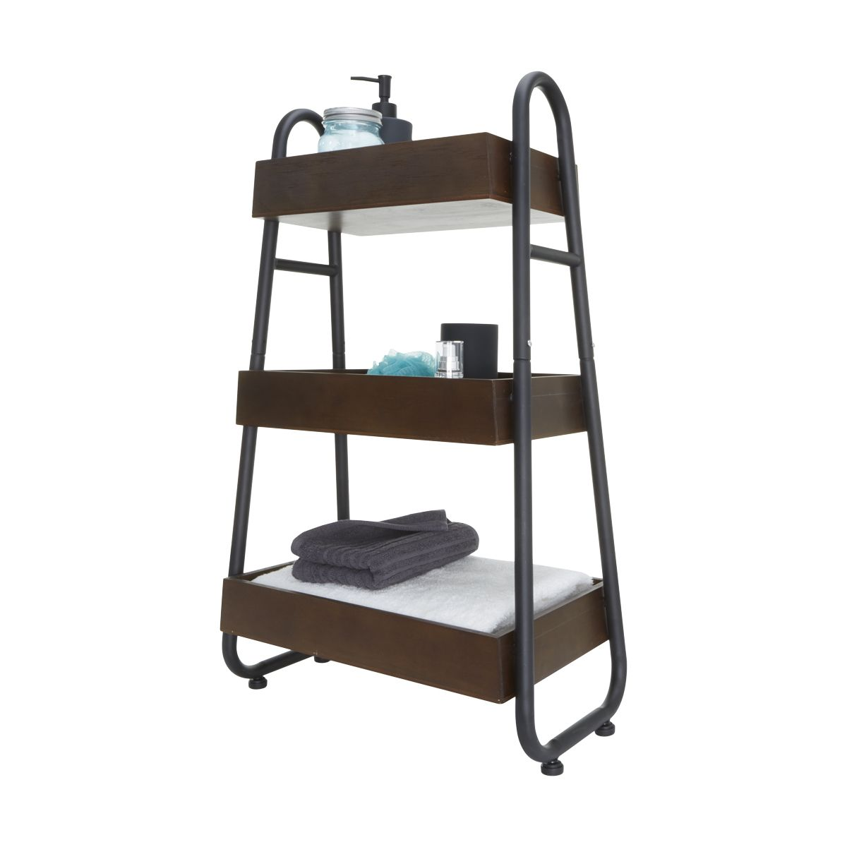 3 Tier Industrial Style Caddy Kmart Industrial Style Wood Decor Cupboard Storage