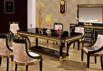 Dining Room Set In Empire Style Top And Best Classic Furniture And Classical Interior Design Luxury Dining Room Italian Dining Room Classical Interior Design