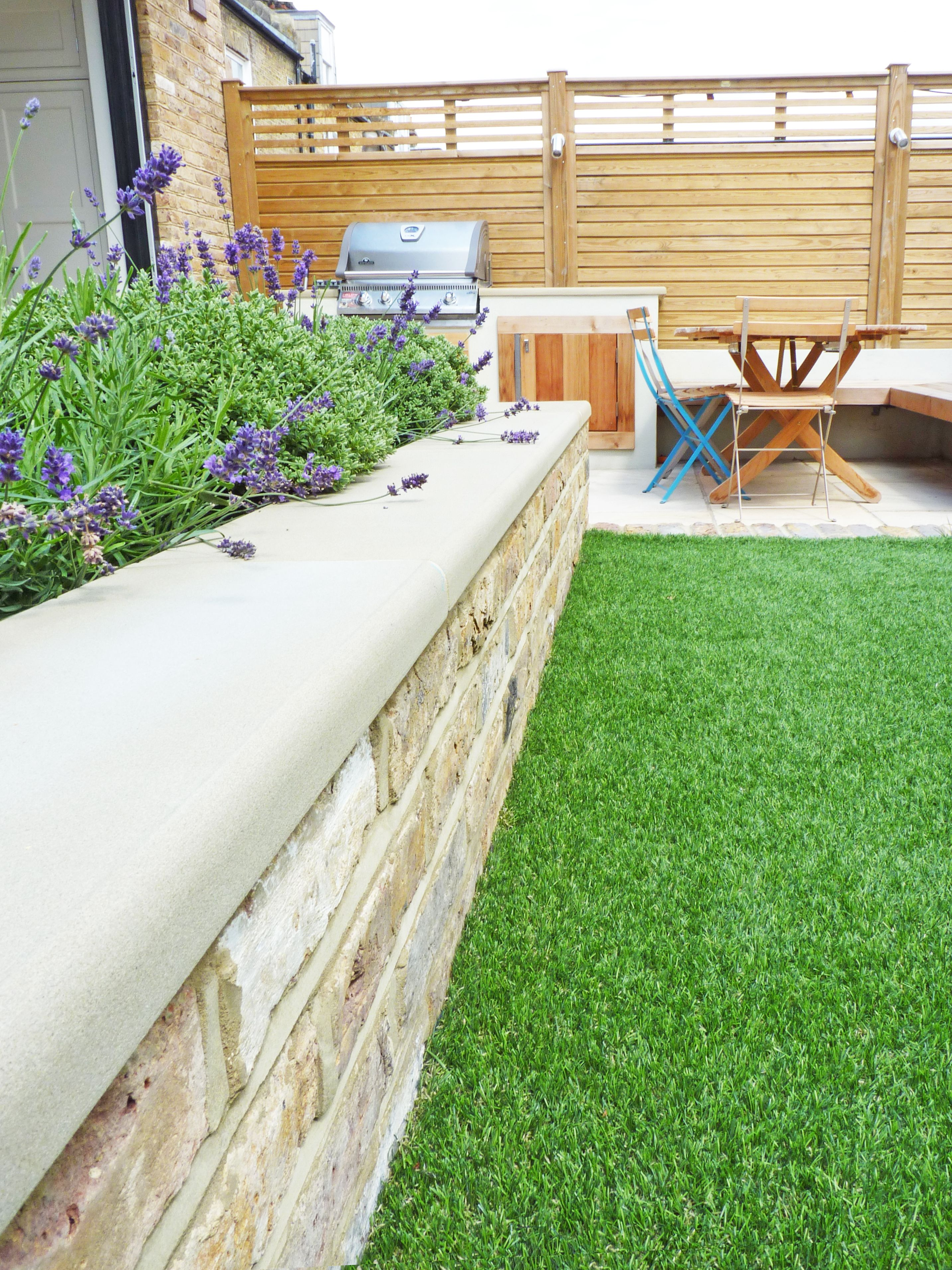 We designed this swing garden to be functional and low maintenance