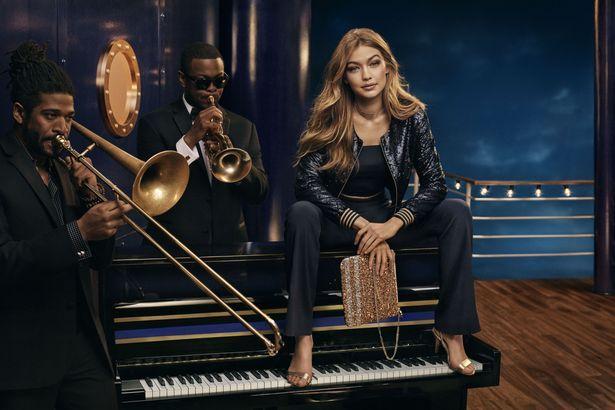 Gigi Hadid sparkles in sequins and metallics for nautical campaign - Irish Mirror Online - Gigi Hadid sparkles in sequins and metallics for nautical campaign ...