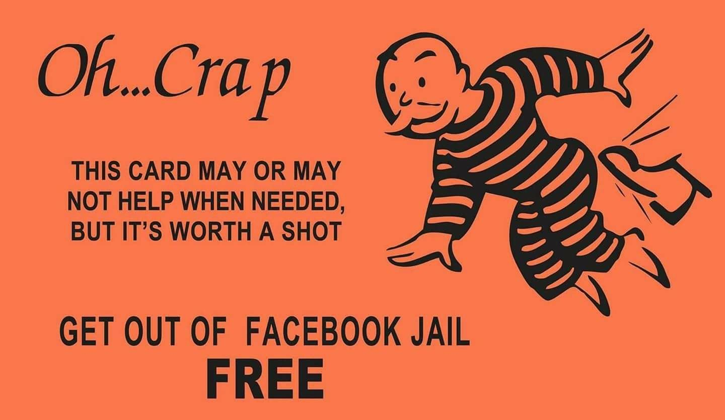 The Charming What Does Get Out Of Jail Free Card Mean Slang For Get Out Of Jail Free Card Facebook Jail Jail Social Media Quotes