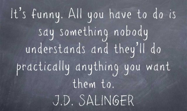 JD Salinger Cool words, Literary quotes, Quotable quotes
