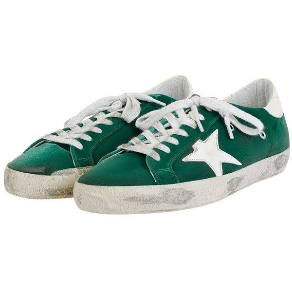 Emerald Velvet Superstar Sneakers ($450