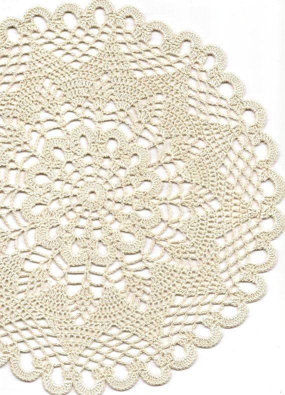 Vintage Style Crochet Lace Doily Hand Crocheted Doilies Handmade ...