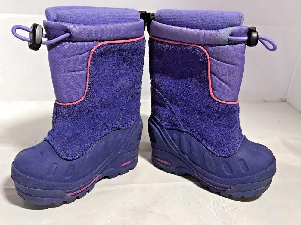 Columbia Bugabarn Jr Winter Snow Boots W Liners Purple Magenta Baby