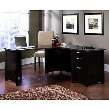 Wind Oak Reversible L Desk   OFG LD1180 Home Office Furniture   Classy