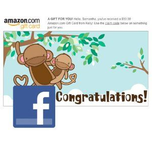 Amazon Gift Card - Facebook - New Baby (Ecard Gift Certificate ...
