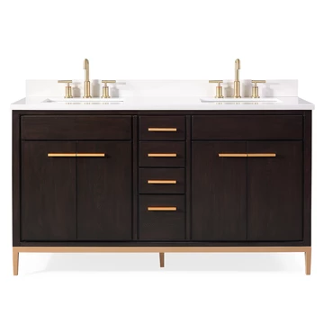 Double Sink Bathroom Vanity Models Modern Bathroom Cabinets With Sink In Espresso Taupe Double Sink Bathroom Vanity Double Sink Bathroom Bathroom Sink Vanity