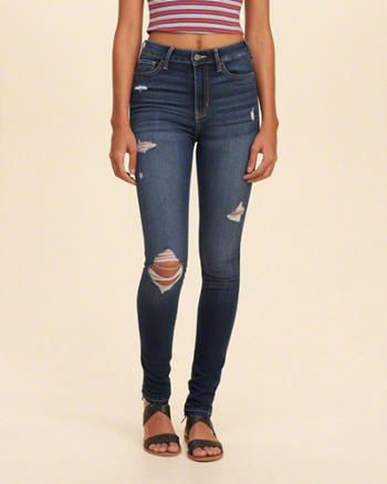 hollister high waisted jeans