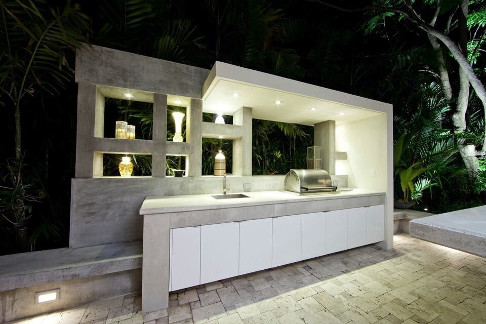 Hibachi Grill Miami For A Contemporary Patio With A Grill And Exterior By Espacios Outdoor Kitchen Design Outdoor Kitchen Contemporary Patio