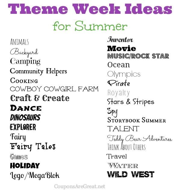 Frugal Summer Fun Ideas Summer Theme Week Ideas Summer