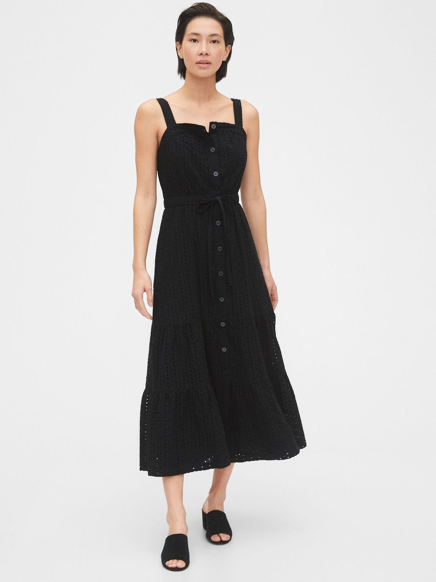 Apron Maxi Dress Gap Womens Dresses All Black Dresses Maxi Dress [ 2000 x 1500 Pixel ]