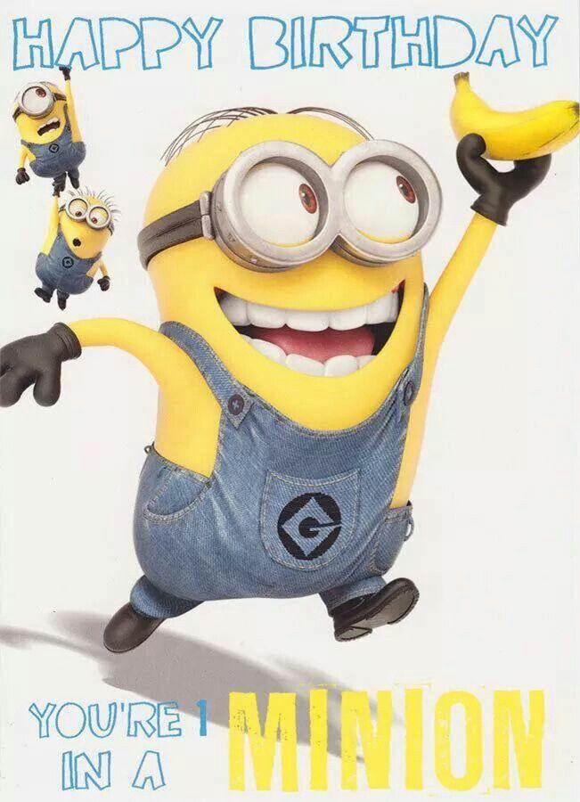 You Re One In A Minion Happy Birthday Minions Happy Birthday