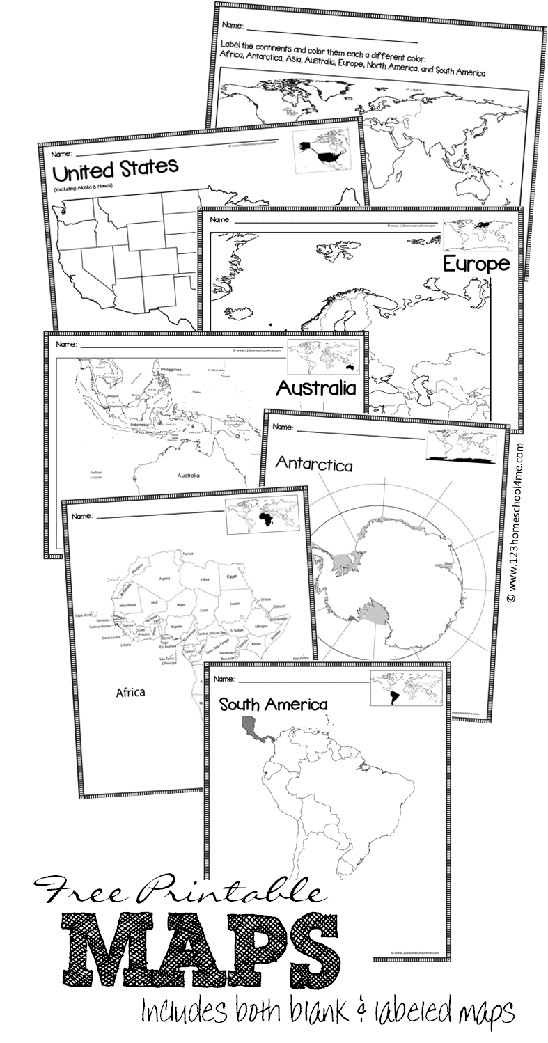 FREE Printable Blank Maps | Montessori | Pinterest | Geography ...