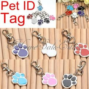 Paw Pet ID Name Tag Custom Engraved Dog Doggie Cat Personalized Keychain Gift $1.60