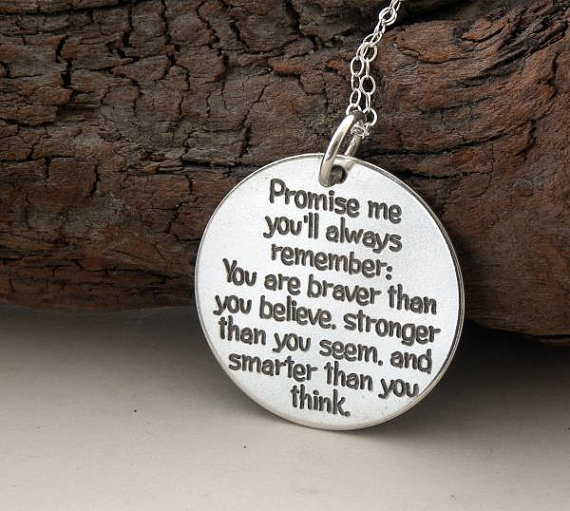 Promise me you'll always remember 925silver necklace