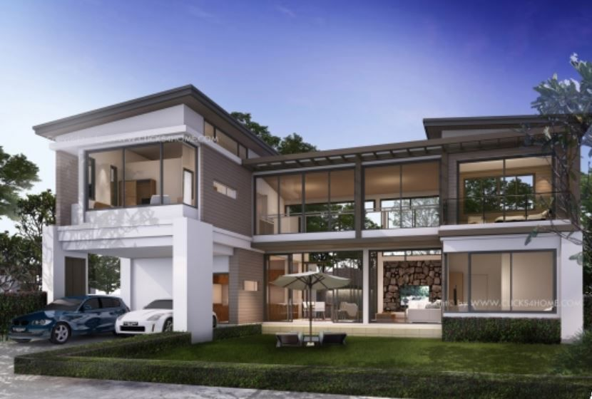 Home Design Plan 17x13m With 4 Bedrooms Home Design Plan Flat Roof House Designs House Design