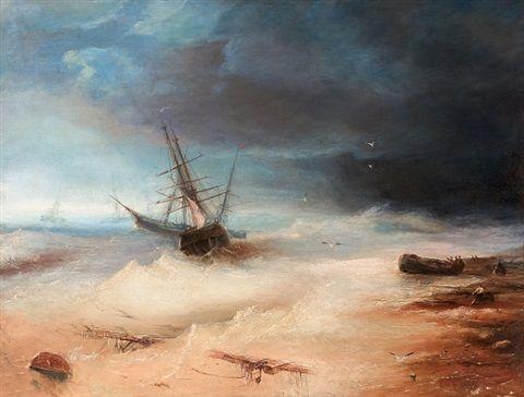 Schiffbruch von Oswald Achenbach