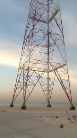 بالفيديو أطفال يعرضون أنفسهم للخطر بتسلق برج اتصالات الخفجي Bay Bridge Landmarks Site