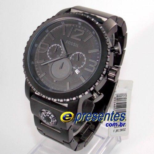 2483463bddd FJR1303Z Relogio Fossil masculino Cronografo Preto